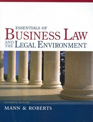 Essentials of Business Law and the Legal Environment 11th Edition 9781133188636 113318863X