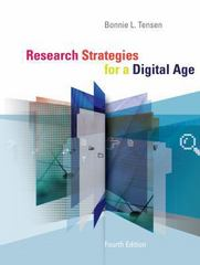 Research Strategies for a Digital Age 4th Edition 9781133713029 1133713025
