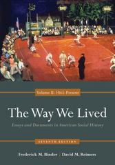 The Way We Lived 7th edition 9780840029515 0840029519