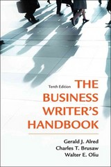 The Business Writer's Handbook 10th Edition 9781457605321 1457605325