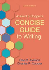 Axelrod & Cooper's Concise Guide to Writing 6th Edition 9781457605765 1457605767