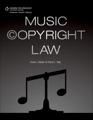 Music Copyright Law 1st Edition 9781435459724 1435459725
