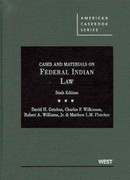 Cases and Materials on Federal Indian Law 6th Edition 9780314200372 0314200371