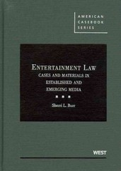 Entertainment Law 2nd Edition 9780314184054 0314184058