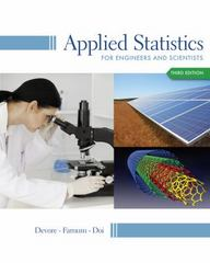 Applied Statistics for Engineers and Scientists 3rd Edition 9781133111368 113311136X