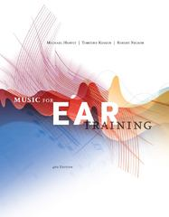 Music for Ear Training (with Premium Website eBook Printed Access Card) 4th edition 9780840029812 0840029810