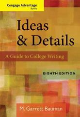 Cengage Advantage Books: Ideas & Details 8th edition 9780840028846 0840028849