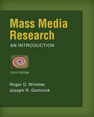 Mass Media Research 10th Edition 9781133307334 1133307337