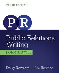 Public Relations Writing 10th edition 9781133307310 1133307310