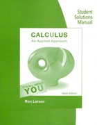 Student Solutions Manual for Larson's Calculus: An Applied Approach 9th Edition 9781305216020 1305216024