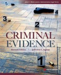 Criminal Evidence 11th Edition 9781437735031 1437735037