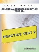 CEOE OGET Oklahoma General Education Test 074 Practice Test 2 1st Edition 9781607872580 1607872587