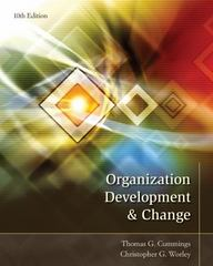 Organization Development Chg 10th Edition 9781133190455 1133190456