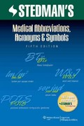 Stedman's Medical Abbreviations, Acronyms & Symbols 5th Edition 9781608316991 1608316998