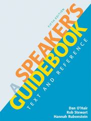 A Speaker's Guidebook 5th edition 9780312642860 0312642865