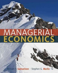 Managerial Economics 7th Edition 9781118041581 1118041585