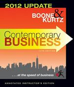 AIE Contemporary Business Fourteenth Edition 2012 Update 14th edition 9781118115022 1118115023