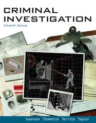Criminal Investigation 11th Edition 9780078111525 0078111528
