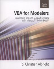 VBA for Modelers 4th Edition 9781285225678 1285225678