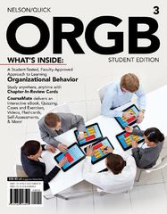 ORGB 3, Student Edition (with Management CourseMate with eBook and Career Transitions 2.0 Printed Access Card) 3rd Edition 9781133191193 1133191193