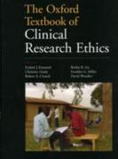 The Oxford Textbook of Clinical Research Ethics 1st Edition 9780199721665 0199721661