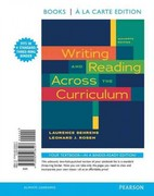 Writing and Reading Across the Curriculum, Books a la Carte Edition 11th edition 9780205238507 0205238505