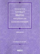 The Elements of Contract Drafting with Questions and Clauses for Consideration 3rd edition 9780314266040 0314266046