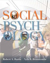 Social Psychology 13th edition 9780205205585 0205205585