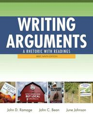 Writing Arguments 9th Edition 9780205171569 0205171567