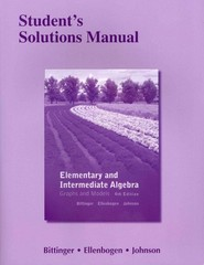 Student's Solutions Manual for Elementary and Intermediate Algebra 4th edition 9780321726605 032172660X