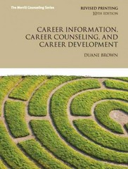 Career Information, Career Counseling, and Career Development 10th Edition 9780132821391 0132821397