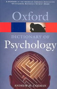 A Dictionary of Psychology 2nd edition 9780198607618 019860761X