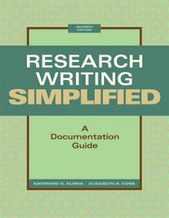 Research Writing Simplified 7th edition 9780205236404 0205236405