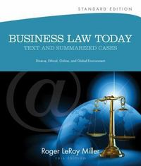Business Law Today, Standard 10th edition 9781133273561 1133273564