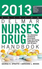 2013 Delmar Nurses Drug Handbook 22th Edition 9781133280286 1133280285