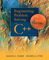 Engineering Problem Solving with C++ 3rd Edition 9780132492652 0132492652