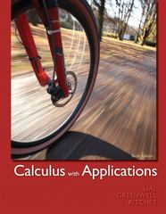 Calculus with Applications 10th edition 9780321749000 0321749006