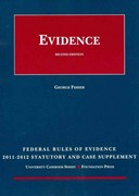 Fisher's Federal Rules of Evidence Statutory Supplement, 2011-2012 2nd edition 9781599419640 1599419645