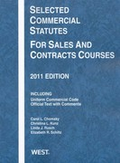 Selected Commercial Statutes for Sales and Contracts Courses 2011 0 9780314275097 0314275096