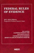 Federal Rules of Evidence, with Evidence Map 2011-12 0 9780314275349 0314275347