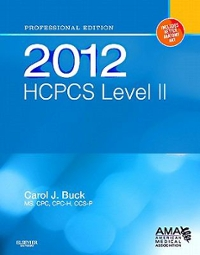2012 HCPCS Level II Professional Edition 1st edition 9781455707706 1455707708