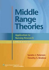 Middle Range Theories 3rd edition 9781451180558 1451180551