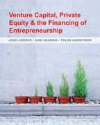 Venture Capital, Private Equity, and the Financing of Entrepreneurship 1st Edition 9780470591437 0470591439