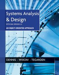 Systems Analysis and Design with UML 4th Edition 9781118214176 111821417X