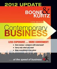 Contemporary Business 14th Edition 2012 Update Binder Ready Version 14th edition 9781118061671 1118061675