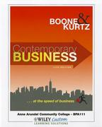 Contemporary Business 14th Edition for Anne Arundel Community College 14th edition 9781118104453 1118104455