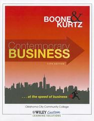Contemporary Business 14th Edition for OCCC Softcover Color 14th edition 9781118118085 1118118081