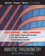 Analytic Trigonometry with Applications, Eleventh Edition Binder Ready Version 11th Edition 9781118129296 1118129296