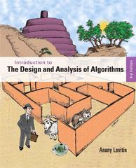 Introduction to the Design and Analysis of Algorithms 3rd Edition 9780133001365 0133001369