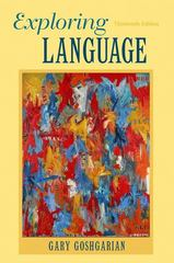 Exploring Language 13th edition 9780205172863 0205172865